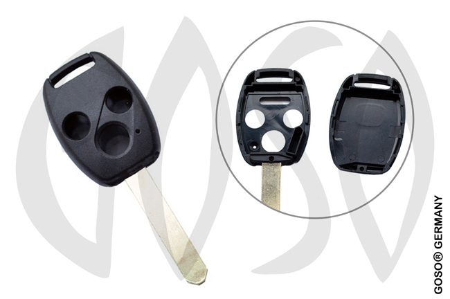 Honda key shell blank 3 button HON66RS5 6550