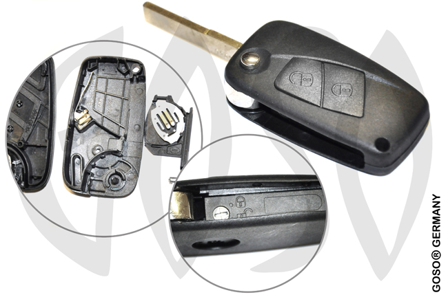 Fiat key 2 buttons SIP22 6710