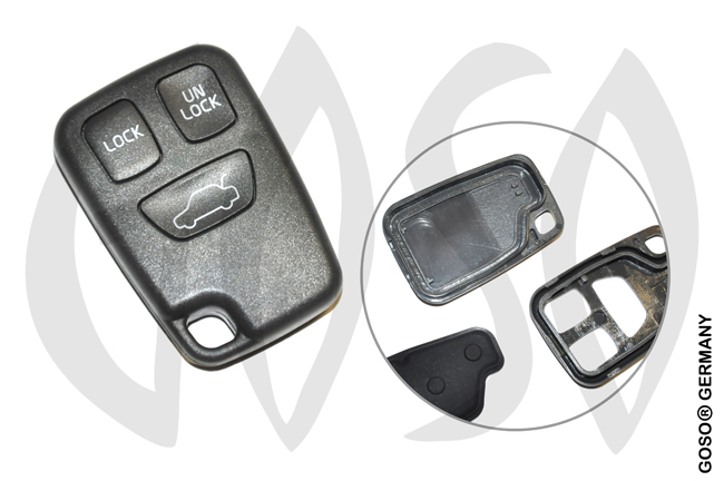 Key Shell for Volvo 3 Button Remote Case 7298