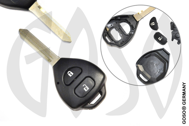 Key Shell for Toyota 2 button remote key blank housing 7700