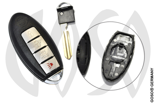 Nissan remote key shell blank 4 button keys 7908