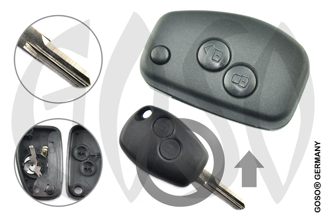 Key Shell for Renault funk key folding  VAC102 2 buttons 8271