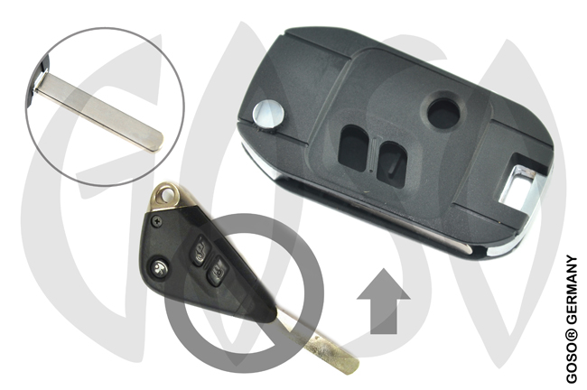 Subaru 3 button case Flipkey DAT17 HON66 8462