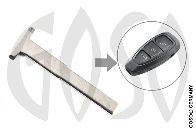 Ford Blank Smart Remote Key Blade 8509