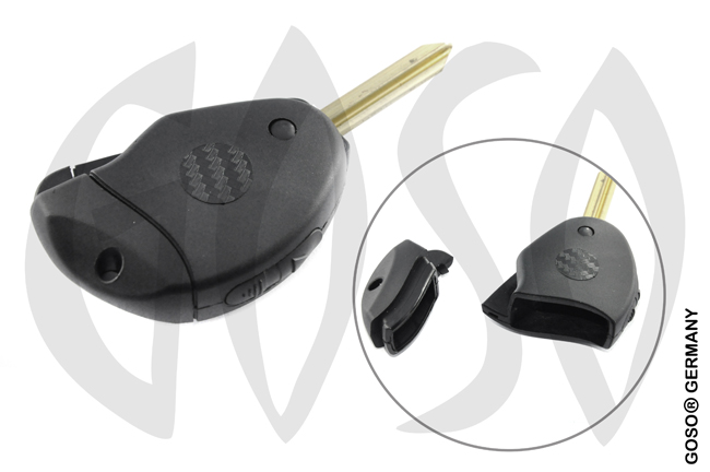 Citroen  key shell  blank 2 buttons 8523