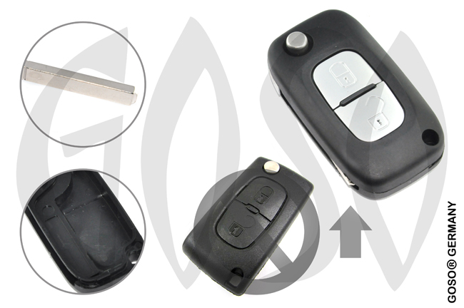 Citroen remote key housing blank 2 buttons 8578