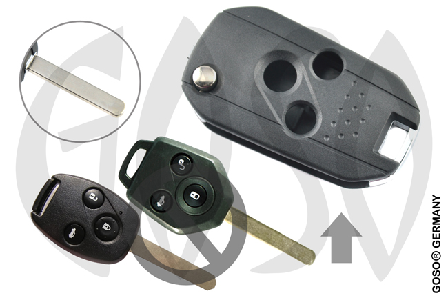 Honda 3 button case Flipkey HON66 8660-2
