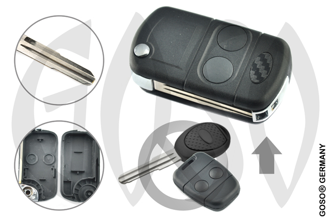 Key Shell for Ford Rover   Ford Landrover 2 button remote key flip blank NE75 8684