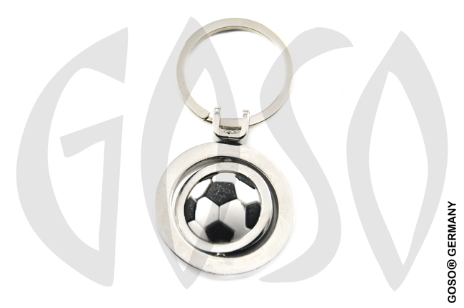 Keychain Rotatable Soccer Football 8790