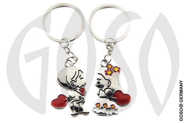 Keychain metal lovers boy and girl 8806