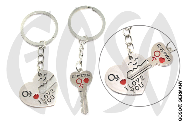 Keychain Heart Love Key 8837