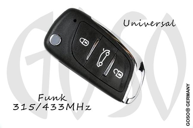 Universal KD900 Funkschlüssel 315/433MHz B11-DS 3T 8912-7