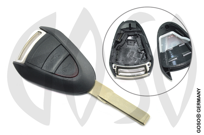 Porsche remote key shell 2 button 8967