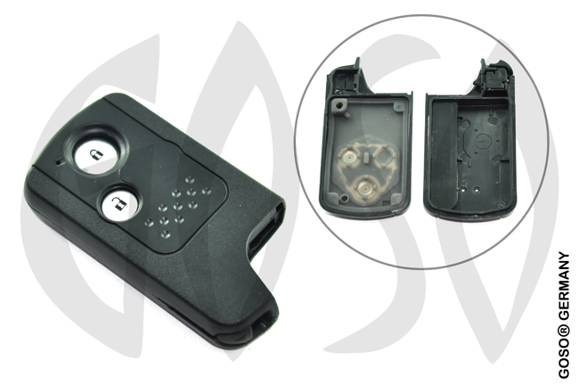 Honda 2 button remote key shell smart card 9292