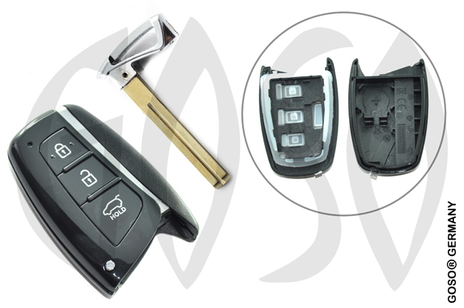 Hyundai New santafe remote key shell 3 buttons 9384