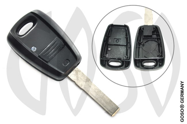 Fiat remote key shell black color 9407