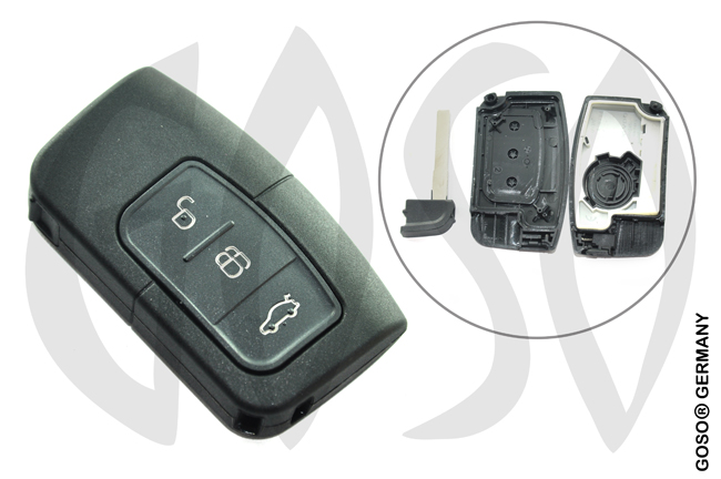 Ford Focus smart remote key shell 3 buttons 9452