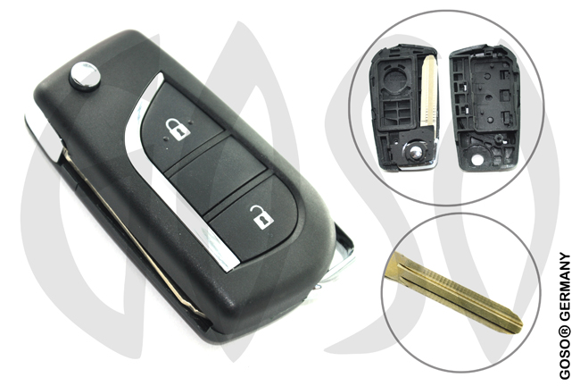 Key Shell for Toyota modified flip remote key shell 2 button 9476
