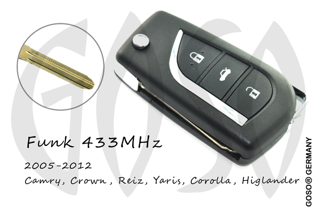Remote Key for Toyota modified 3 buttons 433MHZ 9520