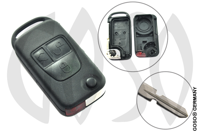 Mercedes key shell 3 buttons HU39 9605
