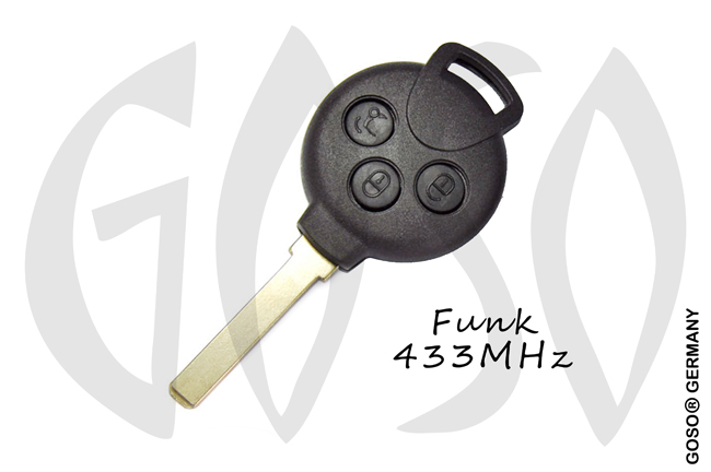 Benz SMART Fortwo 3 button remote key with 433MHz 9728