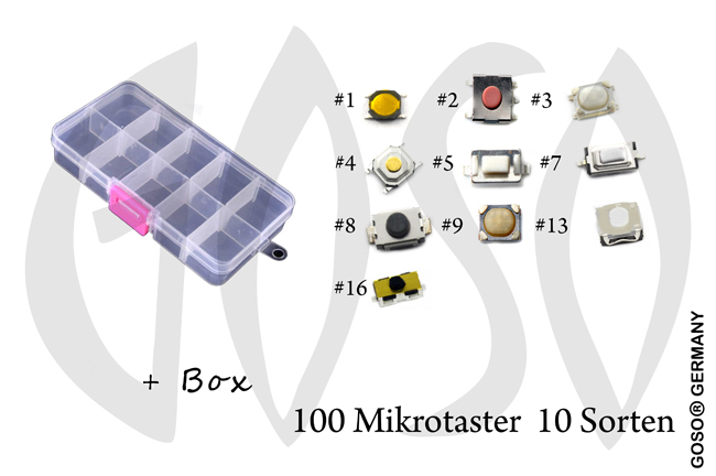 Micro key buttons Set 100x 9735-11
