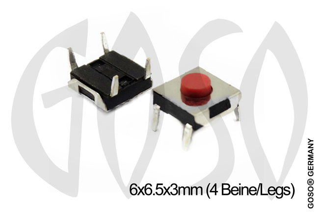 Micro key button 6*6.5*3mm 4legs 9735-19