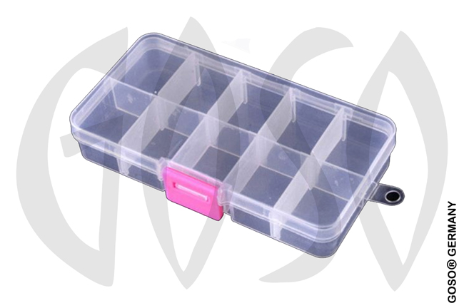 15 compartments transparent plastic box 9735-27