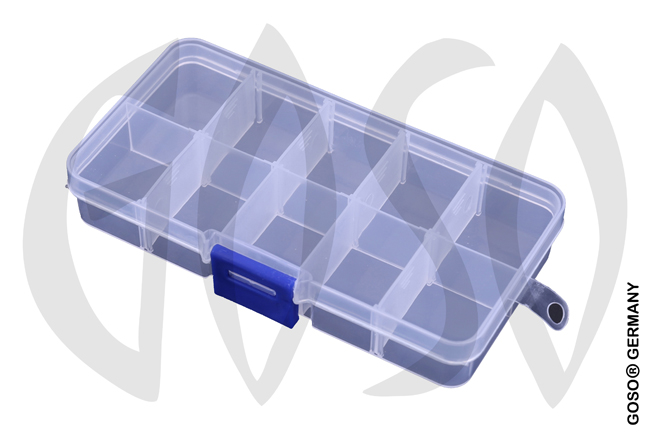 10 compartments transparent plastic box 9735-28