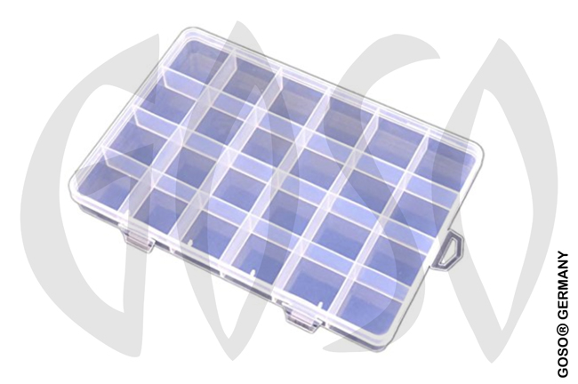 24 compartments transparent plastic box 9735-29