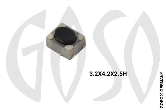 Micro key button 3.2x4.2x2.5H 4legs 9735-49
