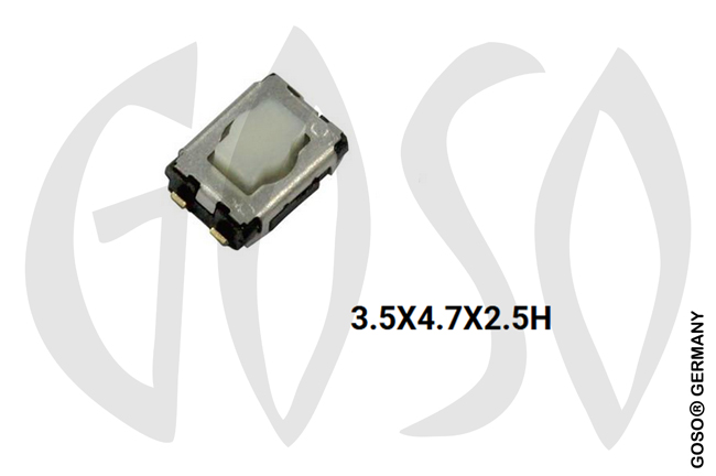 Micro key button 3.5x4.7x2.5H 4legs 9735-50