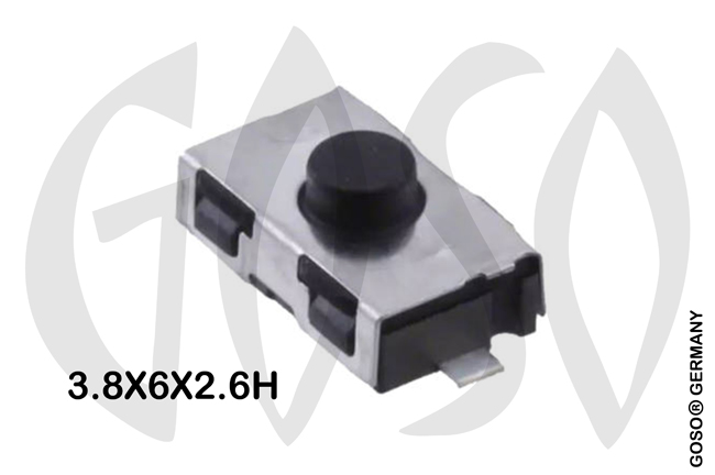 Micro key button 3.8X6X2.6H mm 2legs 9735-64