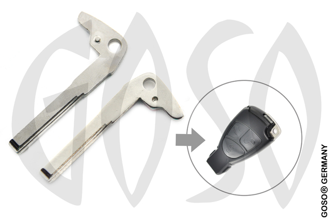 Key Blade Blank for MERCEDES emergency key  9780