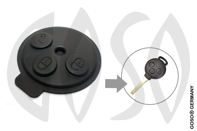 Keypad for Mercedes Benz SMART Schlüssel Tastenfeld 3T VARSD8 9803