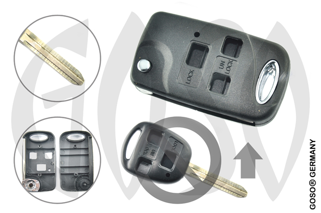 Key Shell for Toyota Remote TOY43 3T UM 9919