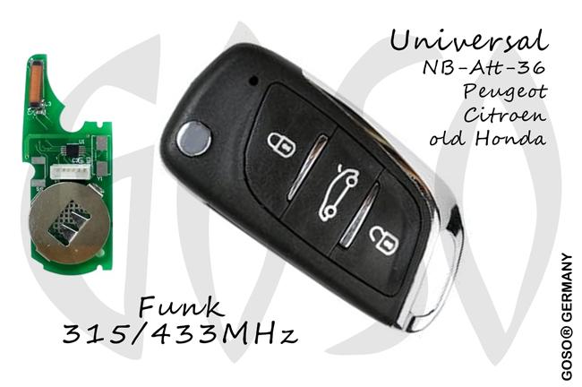 Universal KD900 Funkschlüssel NB11 3T 9964-2