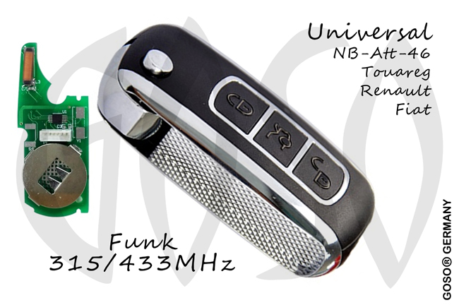 KD900 remote key for VW Renault  NB07 NB-ATT-46 Universal Keydiy X2 315/433MHz 9971