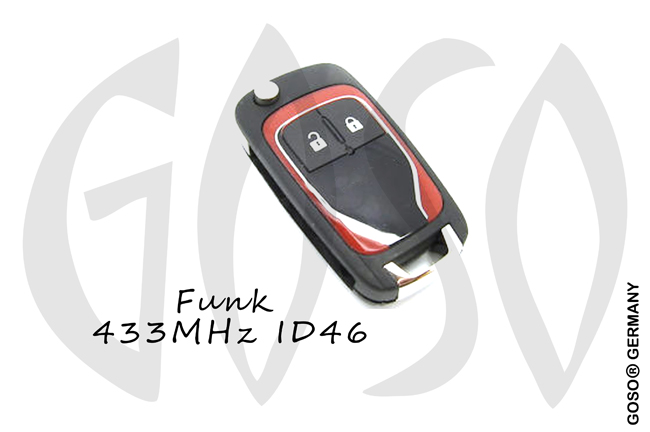 Opel Chevrolet Remote Flip Key Shell 2 Button HU100  NE29