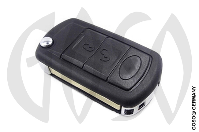 Ford Landrover 3 button remote key flip blank HU92 NE39