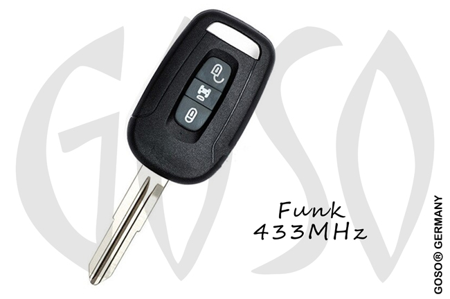 Chevrolet Remote Key 433MHZ 3 button  ID46 - PCF7936 DWO5 ZR161