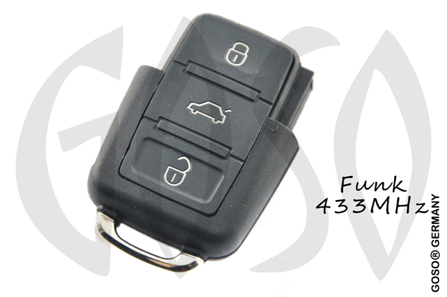VAG VW CRAFTER Remote Key 433MHZ ASK 2EO959753A 3Button ZR209