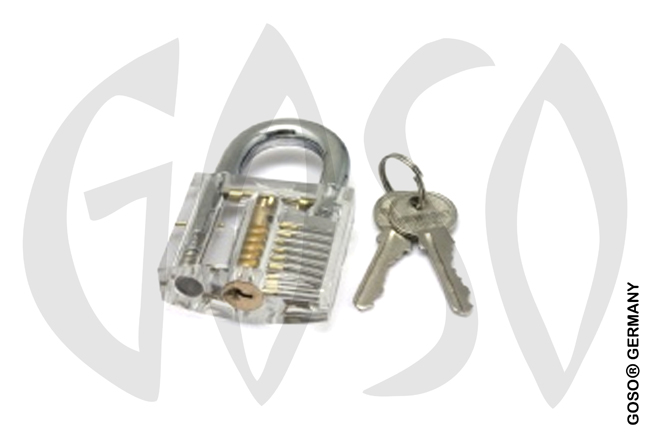 Transparent plexiglass padlock 5420