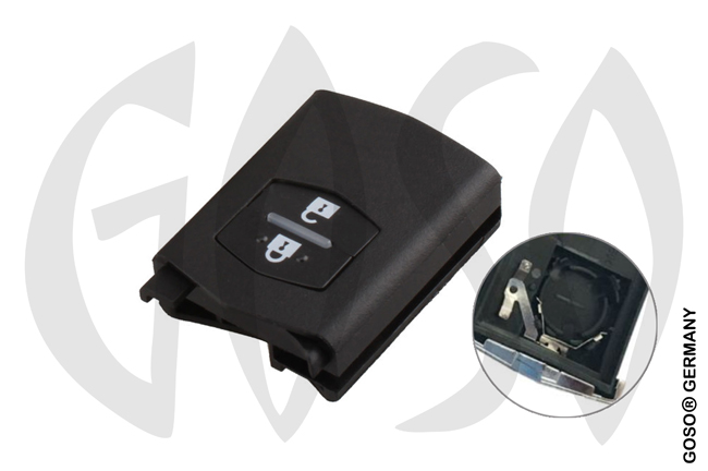 Mazda remote key shell flip 2 button 8018-2
