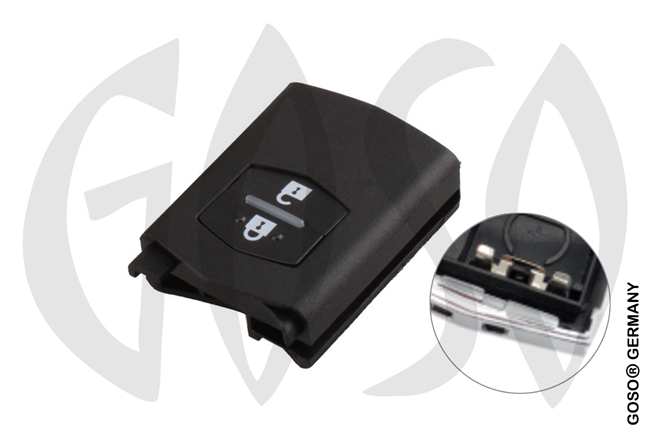 Mazda remote key shell flip 2 button 8018