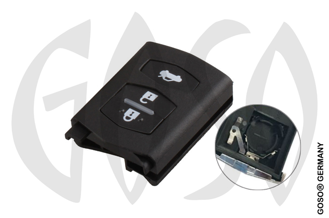Mazda flip key shell 3 button 8025-2