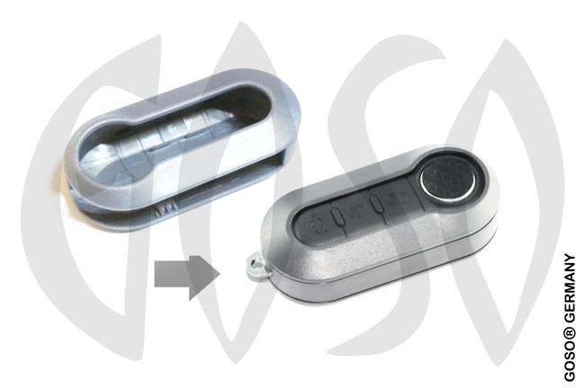 Fiat key cover replacement (grey) 8056