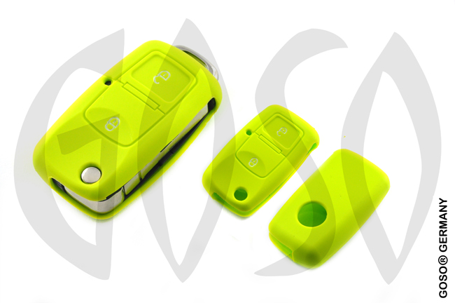 Cover for VW Audi Seat key cover replacement (green) 8100