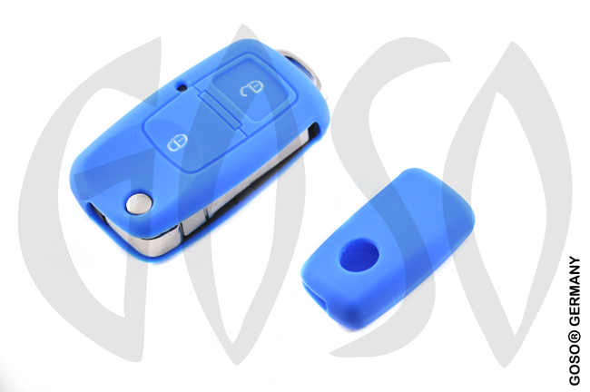 Cover for  VW Audi Seat key cover replacement (blue) 8117