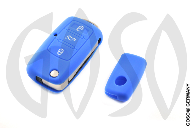 Cover for VW Audi Seat key cover replacement (blue) 8124